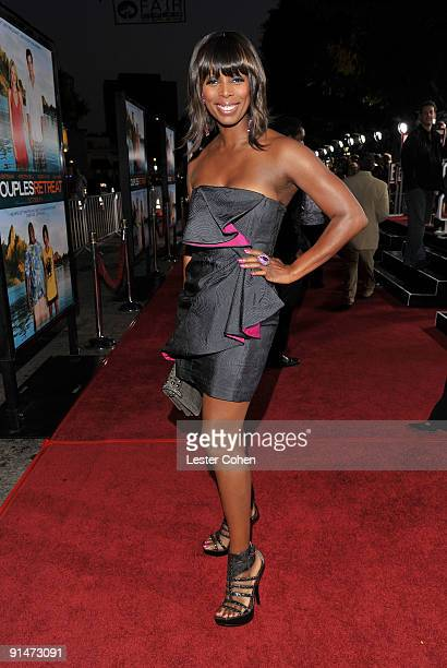 Actress Tasha Smith arrives at the Los Angeles premiere of 'Couples Retreat' held the Mann's Village Theatre on October 5 2009 in Westwood Los...