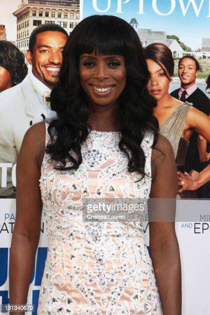 Actress Tasha Smith arrives at the Los Angeles premiere of 'Jumping The Broom' at ArcLight Cinemas Cinerama Dome on May 4 2011 in Hollywood California