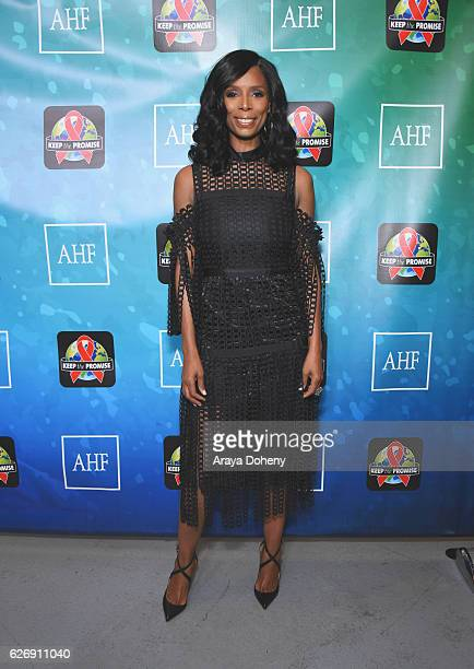 Actress Tasha Smith attends AIDS Healthcare Foundations Keep the Promise Concert at the Dolby Theatre in Hollywood CA on November 30 2016 The concert...