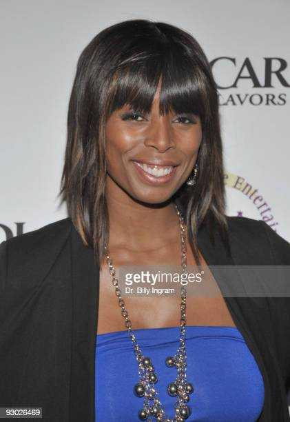 Actress Tasha Smith attends the Cedric The Entertainer Reaching Out And Giving Back Event at Pacfic Design Center on November 12 2009 in West...