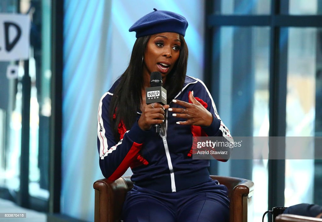 Actress Tasha Smith discusses the film 'When Love Kills' at Build Studio on August 17, 2017 in New York City.