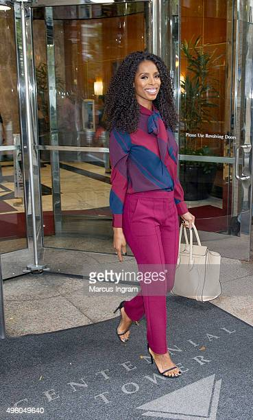 Actress Tasha Smith is seen on November 6 2015 in Atlanta Georgia