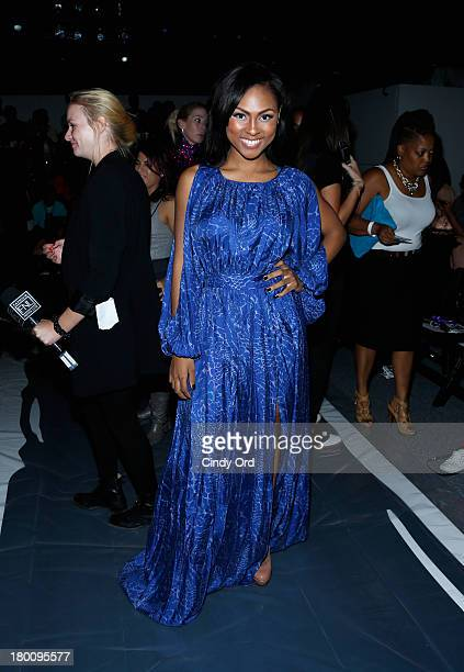 Actress Tashiana Washington attends the Emerson By Jackie FraserSwan fashion show during MercedesBenz Fashion Week Spring 2014 at The Studio at...
