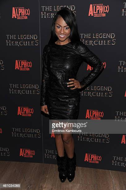 Actress Tashiana Washington attends the The Legend Of Hercules premiere at the Crosby Street Hotel on January 6 2014 in New York City