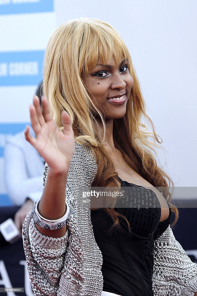 US actress Tashiana Washington poses on the red carpet as she arrives to attend the awarding ceremony off the 38th Deauville's US Film Festival on September 8, 2012 in the French northwestern sea resort of Deauville.