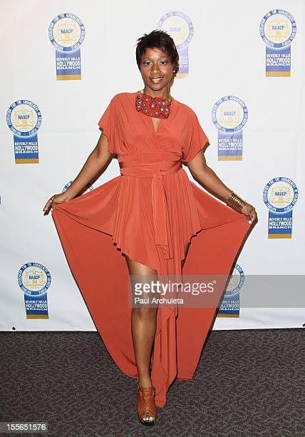 Actress Tasia Sherel attends the 22nd annual NAACP Theatre Awards at the Directors Guild Of America on November 5 2012 in Los Angeles California