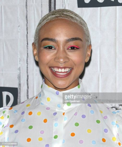 Actress Tati Gabrielle attends the Build Series to discuss The Chilling Adventures of Sabrina at Build Studio on April 09 2019 in New York City