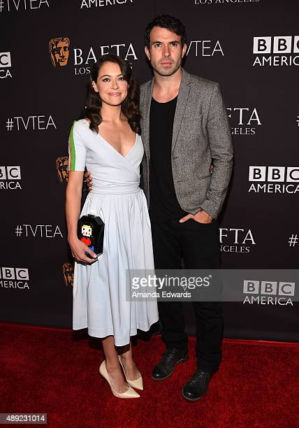 Actress Tatiana Maslany and actor Tom Cullen arrive at the BAFTA Los Angeles TV Tea 2015 at the SLS Hotel on September 19 2015 in Beverly Hills...