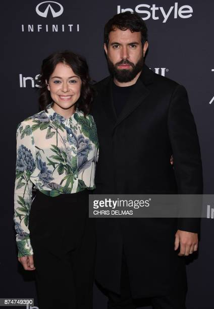 Actress Tatiana Maslany and actor Tom Cullen attend the Hollywood Foreign Press Association and InStyle celebration of the 75th Annual Golden Globe...