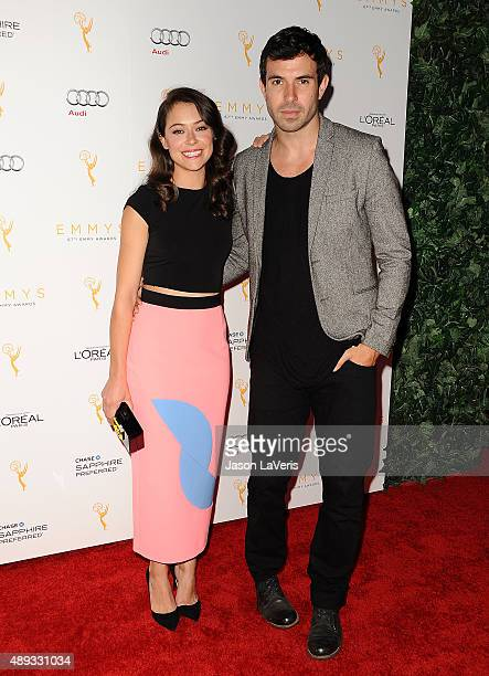 Actress Tatiana Maslany and actor Tom Cullen attend the Television Academy's celebration for the 67th Emmy Award nominees for outstanding...
