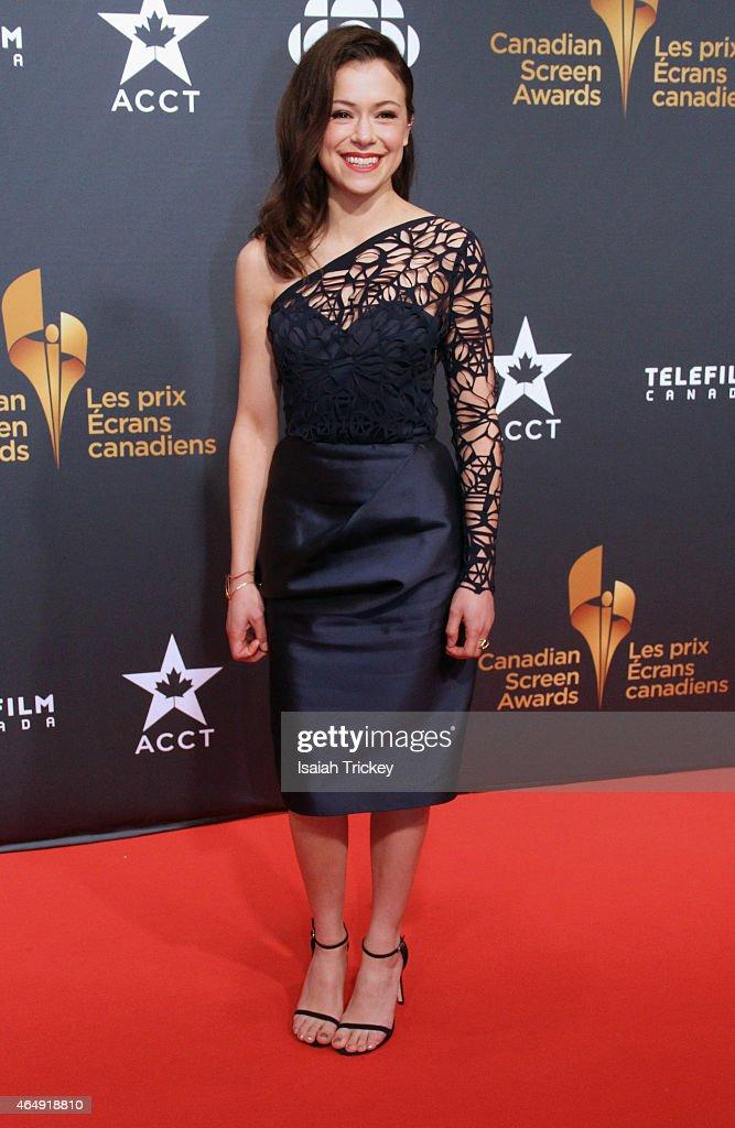 Actress Tatiana Maslany Arrives At The 2015 Canadian Screen Awards