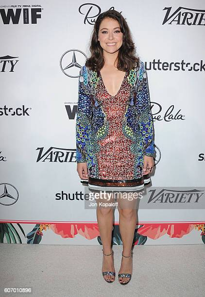 Actress Tatiana Maslany arrives at Variety And Women In Film's PreEmmy Celebration at Gracias Madre on September 16 2016 in West Hollywood California