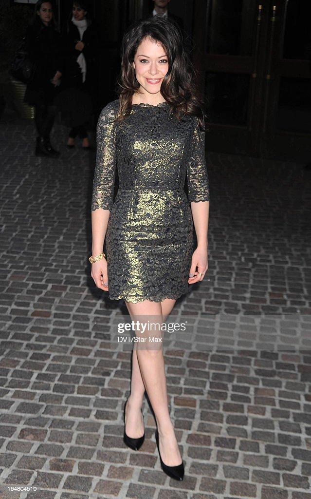 Actress Tatiana Maslany as seen on March 27, 2013 in New York City.