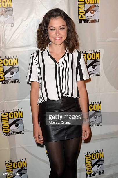Actress Tatiana Maslany attends Entertainment Weekly Women Who Kick Ass panel and presentation and presentation during ComicCon International 2014 at...