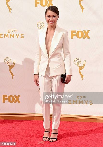 Actress Tatiana Maslany attends the 67th Emmy Awards at Microsoft Theater on September 20 2015 in Los Angeles California 25720_001