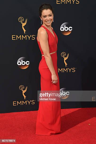 Actress Tatiana Maslany attends the 68th Annual Primetime Emmy Awards at Microsoft Theater on September 18 2016 in Los Angeles California