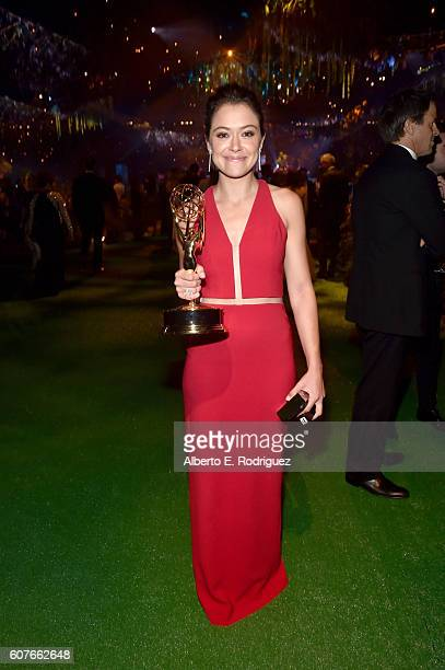 Actress Tatiana Maslany attends the 68th Annual Primetime Emmy Awards Governors Ball at Microsoft Theater on September 18, 2016 in Los Angeles,...
