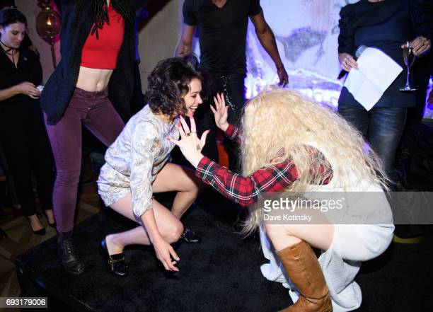 Actress Tatiana Maslany dances at BBC AMERICA's 'Orphan Black' Premiere Party at Vandal on June 6 2017 in New York City