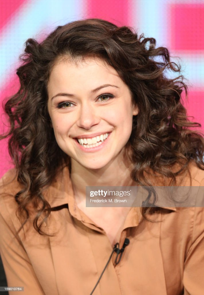 Actress Tatiana Maslany speaks onstage at the 'Orphan Black' panel discussion during the BBC America portion of the 2013 Winter TCA Tour- Day 2 at Langham Hotel on January 5, 2013 in Pasadena, California.