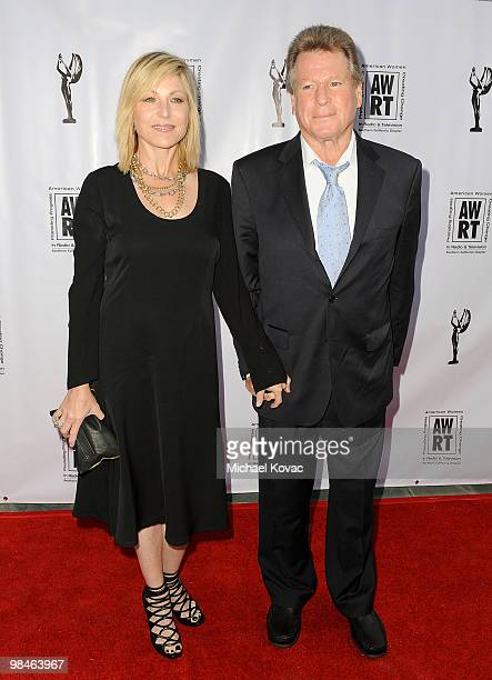 Actress Tatum O'Neal and actor Ryan O'Neal arrive at the American Women in Radio Television Southern California 2010 Genii Awards at Skirball...