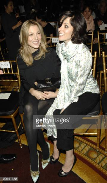 Actress Tatum O'Neal and Actress Parker Posey attend Cynthia Rowley Fall 2008 during MercedesBenz Fashion Week at Bryant Park on February 07 2008 in...