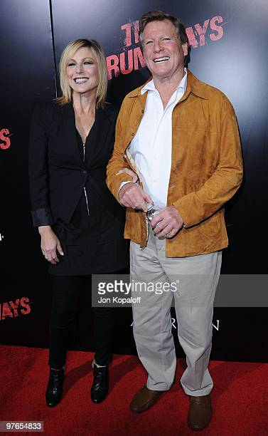 Actress Tatum O'Neal and dad actor Ryan O'Neal arrive at the Los Angeles Premiere 'The Runaways' at the ArcLight Cinemas Cinerama Dome on March 11...