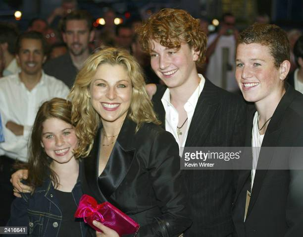 Actress Tatum O'Neal and her children Emily Kevin and Sean McEnroe arrive at the 30th anniversary screening of Paper Moon at the Vista Theater August...