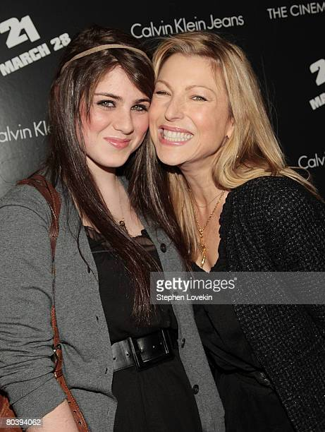 Actress Tatum O'Neal and her daughter Emily McEnroe attend a screening of 21 hosted by The Cinema Society and Calvin Klein Jeans at The IFC Center on...