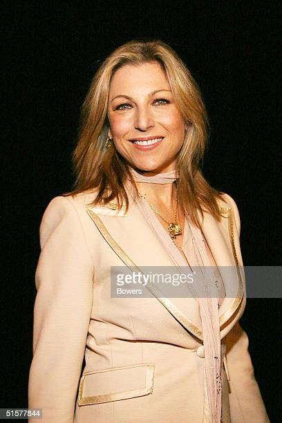 Actress Tatum O'Neal attends the Giorgio Armani Spring/Summer 2005 fashion show at Pier 94 on October 26 2004 in New York City