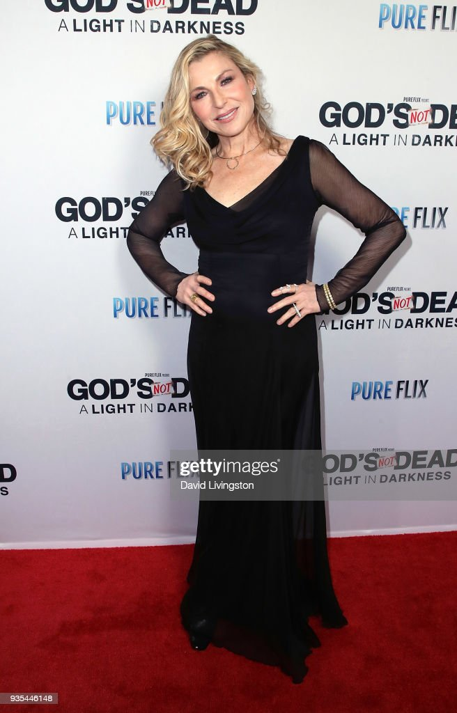 Actress Tatum O'Neal attends the 'God's Not Dead: A Light in Darkness' premiere at American Cinematheque's Egyptian Theatre on March 20, 2018 in Hollywood, California.