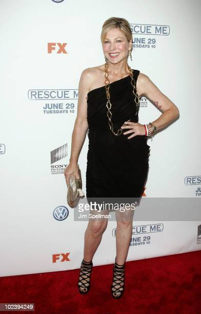 Actress Tatum O'Neal attends the Season 6 premiere of 'Rescue Me' at AMC Theater on June 24 2010 in New York City