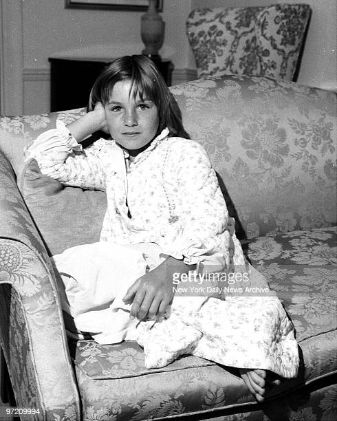 Actress Tatum O'Neal being interviewed by Sid Fields