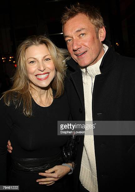 Actress Tatum O'Neil and Hunter Hill attend the afterparty for Marc Jacobs and Louis Vuitton hosted by The Cinema Society and W Magazine at The...