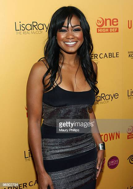Actress Tatyana Ali arrives at LisaRaye The Real McCoy Premiere Screening Launch Party at The Standard Hotel on April 6 2010 in Los Angeles California