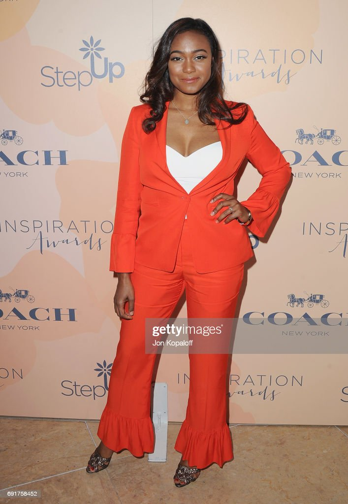 Actress Tatyana Ali arrives at the 14th Annual Inspiration Awards at The Beverly Hilton Hotel on June 2, 2017 in Beverly Hills, California.