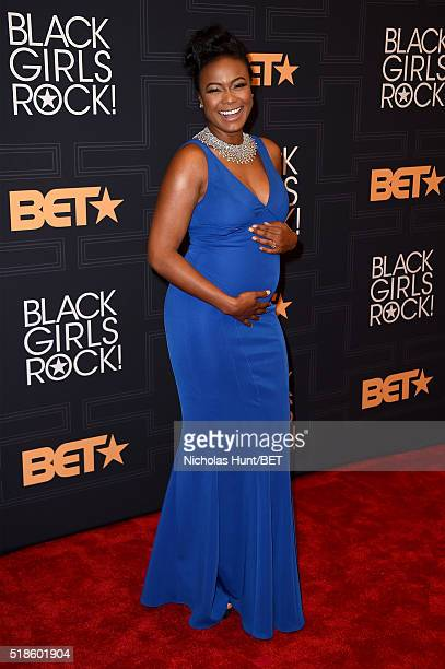 Actress Tatyana Ali attends Black Girls Rock 2016 on April 1 2016 in New York City