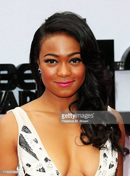 Actress Tatyana Ali attends the 2013 BET Awards at Nokia Theatre LA Live on June 30 2013 in Los Angeles California