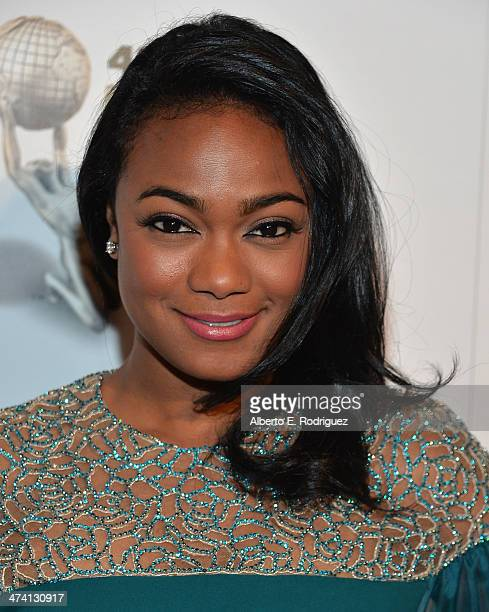 Actress Tatyana Ali attends the 45th NAACP Awards NonTelevised Awards Ceremony at the Pasadena Civic Auditorium on February 21 2014 in Pasadena...