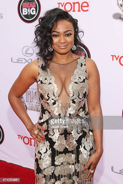 Actress Tatyana Ali attends the 45th NAACP Image Awards presented by TV One at Pasadena Civic Auditorium on February 22 2014 in Pasadena California