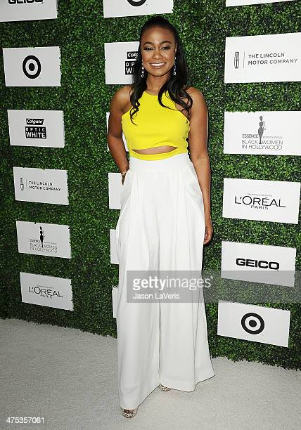 Actress Tatyana Ali attends the 7th annual ESSENCE Black Women In Hollywood luncheon at Beverly Hills Hotel on February 27 2014 in Beverly Hills...