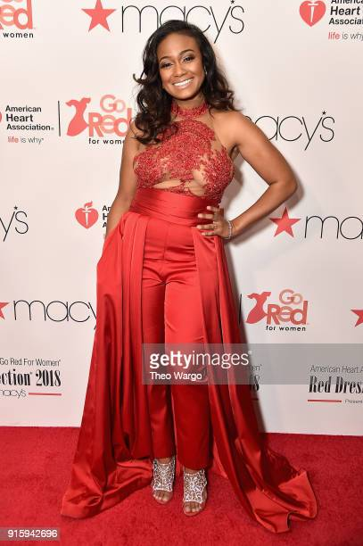 Actress Tatyana Ali attends the American Heart Association's Go Red For Women Red Dress Collection 2018 presented by Macy's at Hammerstein Ballroom...