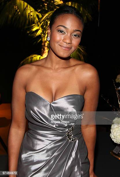 Actress Tatyana Ali attends the 'Believe In Dreams' PreOscar party hosted by Chandler Lutz and Ernest Borgnine at Universal Studios on March 5 2010...