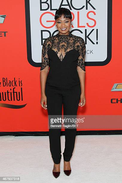 Actress Tatyana Ali attends the BET's Black Girls Rock Red Carpet sponsored by Chevrolet at NJPAC – Prudential Hall on March 28 2015 in Newark New...