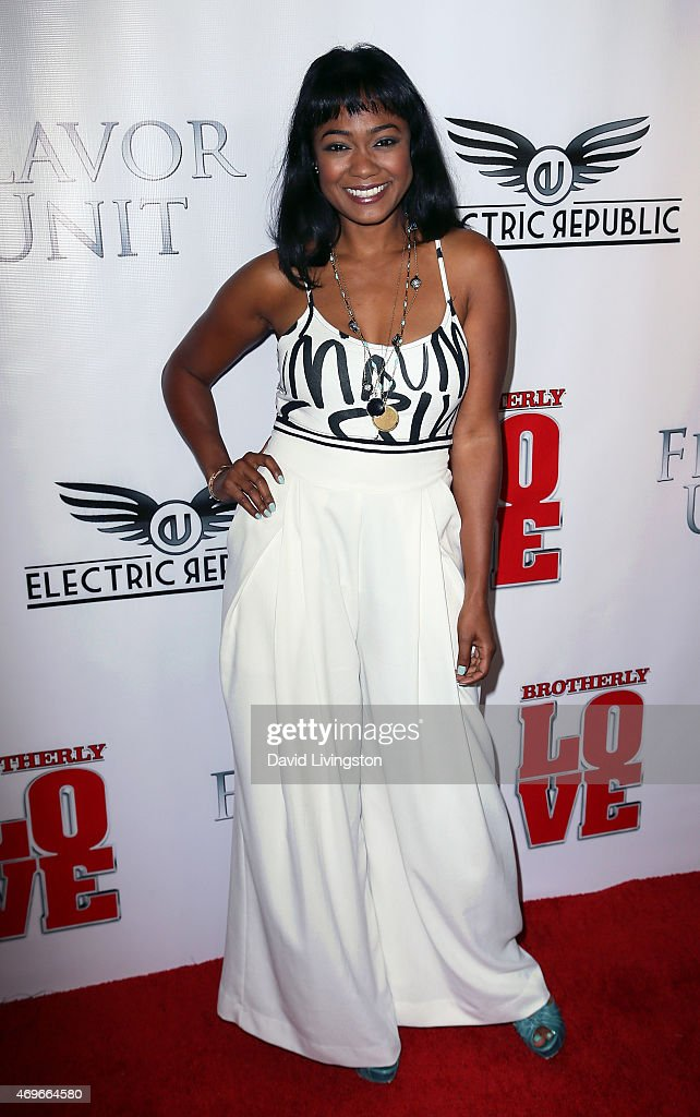 Actress Tatyana Ali attends the premiere of 'Brotherly Love' at SilverScreen Theater at the Pacific Design Center on April 13, 2015 in West Hollywood, California.
