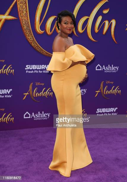 Actress Tatyana Ali attends the premiere of Disney's Aladdin on May 21 2019 in Los Angeles California