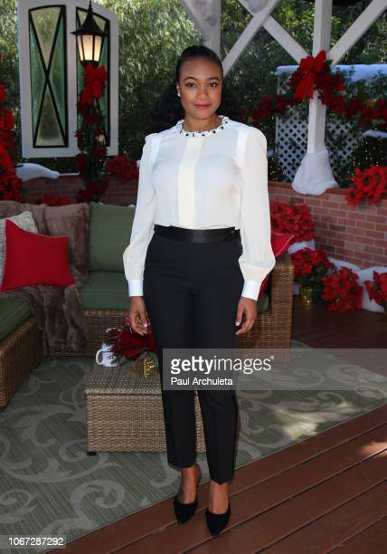 Actress Tatyana Ali visits Hallmark's Home Family at Universal Studios Hollywood on November 13 2018 in Universal City California