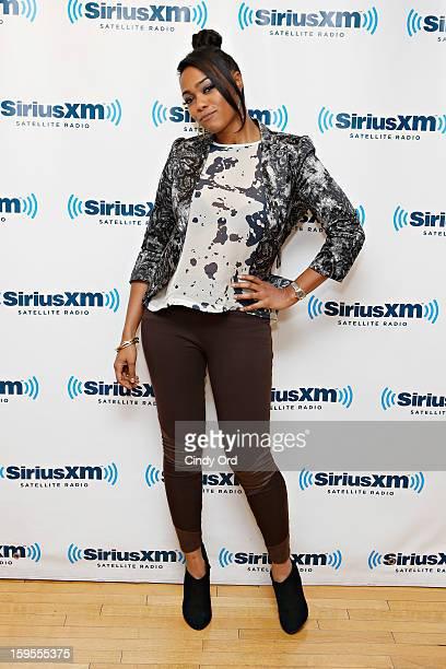 Actress Tatyana Ali visits the SiriusXM Studios on January 15, 2013 in New York City.
