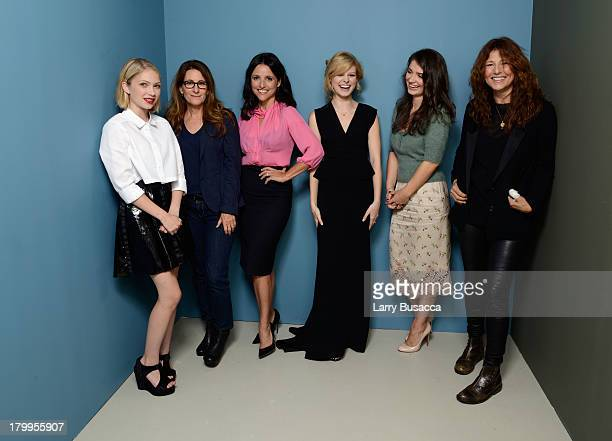 Actress Tavi Gevinson director/screenwriter Nicole Holofcener actress Julia LouisDreyfus actress Tracey Fairaway actress Eve Hewson and actress...