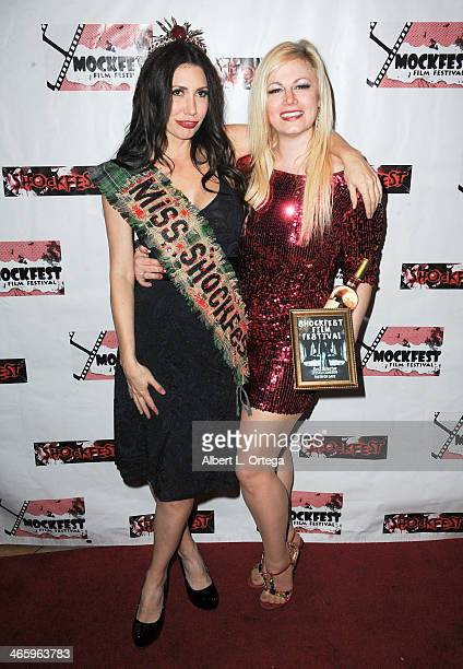 Actress Tawny Amber Young and actress Jessica Cameron attend the ShockFest Film Festival Awards held at Raleigh Studios on January 11 2014 in Los...