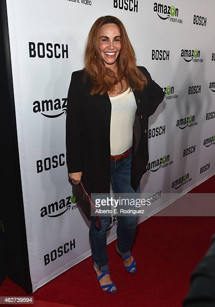 Actress Tawny Kitaen arrives for the red carpet premiere screening for Amazon's first original drama series 'Bosch' at The Dome at Arclight Hollywood...